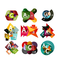 set of paper geometric option banners infographic vector image