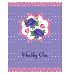 Shabchic style card vector