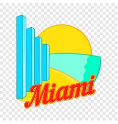 sign miami icon cartoon style vector image