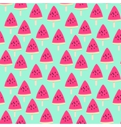 Sliced ripe watermelon seamless pattern vector