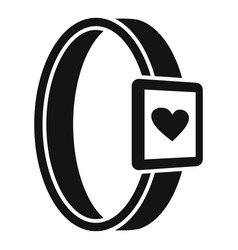 Smartwatch heart monitor icon simple style vector