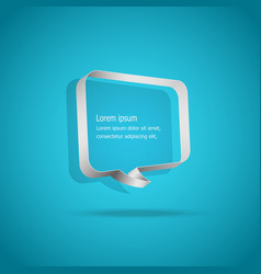 speech bubbles on blue background vector image