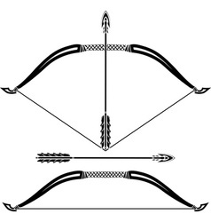 Stencils of bow vector