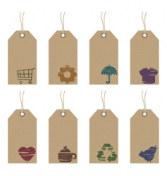Tags with icons vector