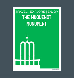 the huguenot monument franschhoek south africa vector image