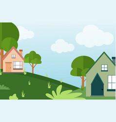 Village background vector