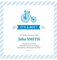 Baby announcement card It s boy vector image vector image