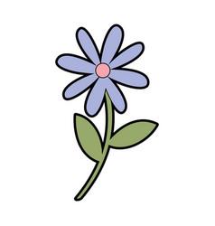 Cute garden flower decorative icon vector