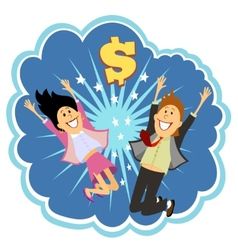 Lottery winners vector image vector image