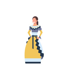 mexico woman dancer in traditional costume vector image