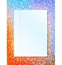 paper sheet vector image
