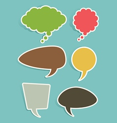 Set of Speech and Thought Bubbles or Balloons vector image vector image