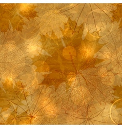 Autumnal Leaves Pattern vector image vector image