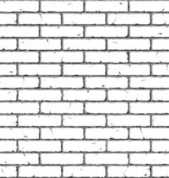 brick wall seamless pattern vector image vector image