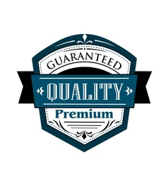 Premium Guaranteed Quality label design vector image
