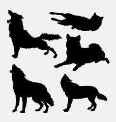 Wolf wild animal silhouette vector