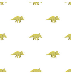 dinosaur triceratops icon in cartoon style vector image