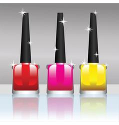 nail polish bottles vector image