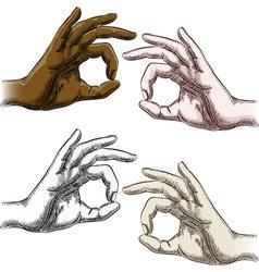 Okay fingers set vector image vector image