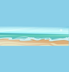 sea shore sand beach summer vacation blue sky vector image vector image