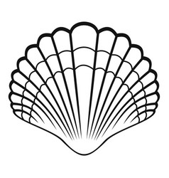 big shell icon simple style vector image vector image