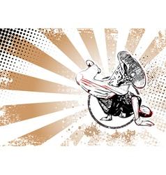 breaker poster vector image vector image
