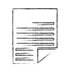 Document paper icon vector