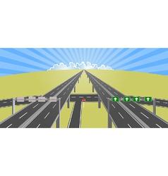 highway to horizon vector image