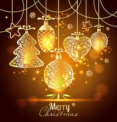 New Years greeting card merry Christmas Bright New vector image vector image