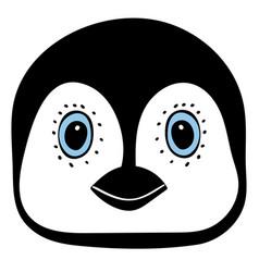 penguin cute animal head funny cartoo vector image vector image