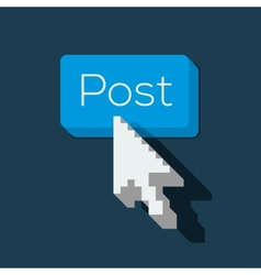 Post Button with Arrow Shaped Cursor vector image vector image