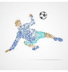 soccer football sport athlete vector image