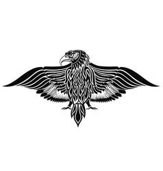 tattoo eagle bird vector image