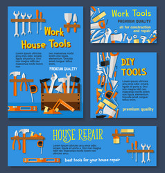 Templates of house repair work tools vector