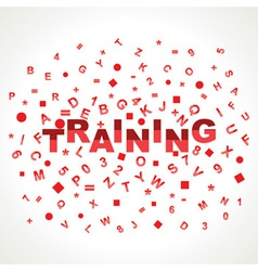 Training word with in alphabets vector image vector image