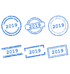 2019 stamps vector image