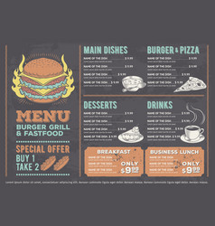 A design fast food vector