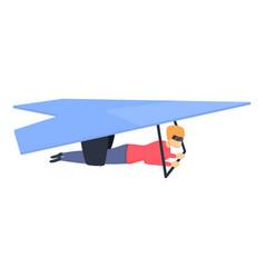Adrenaline hang glider icon cartoon style vector