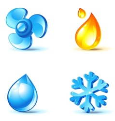 Air-conditioner icons vector