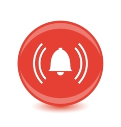 alarm red circle web glossy icon vector image