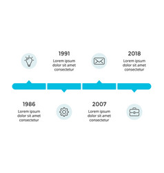 arrows circles timeline infographic vector image