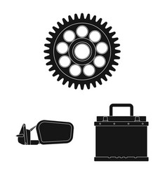 Auto and part logo set of vector