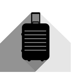 baggage sign black icon with vector image