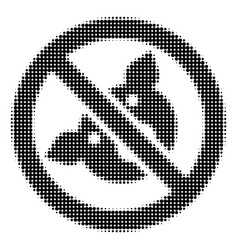 banned pig halftone icon vector image