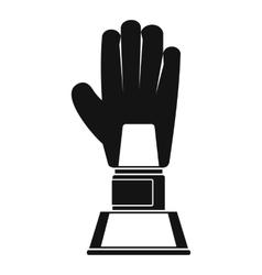 Baseball glove award icon simple style vector