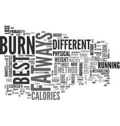 Best ways to burn fat text word cloud concept vector