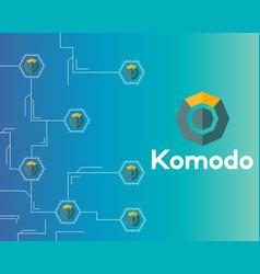 Blockchain komodo symbol technology circuit vector