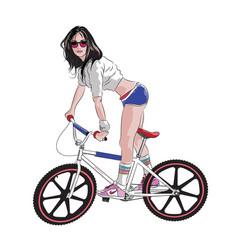 Bmx girl 01 vector