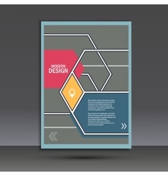 Brochure template with an abstract design of vector image