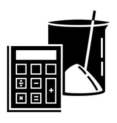 calculator lab beaker icon simple style vector image